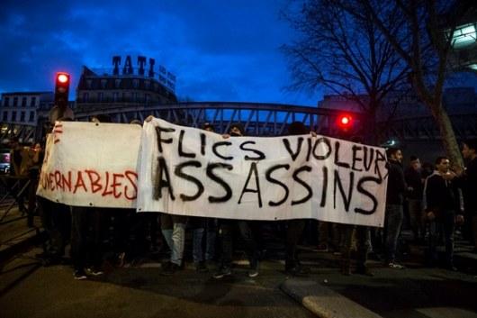 Милиция применила слезоточивый газ— Протесты встолице франции